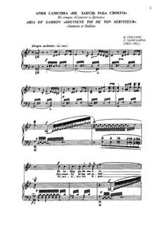 Samson and Dalila, Op.47: Aria of Samson 'Souviens toi de ton serviteur...' by Camille Saint-Saëns