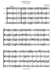 Bridal Chorus: For string quartet – parts by Richard Wagner