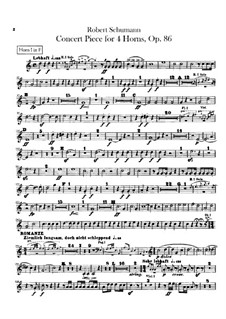 Concert Piece for Four French Horns and Orchestra, Op.86: Horns parts by Robert Schumann