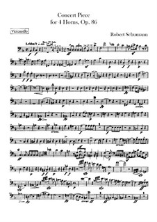 Concert Piece for Four French Horns and Orchestra, Op.86: Cello part by Robert Schumann