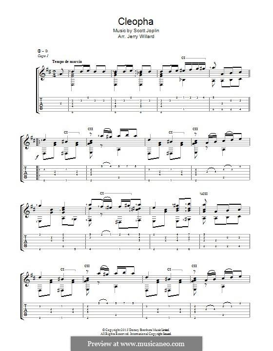 Cleopha: For guitar by Scott Joplin