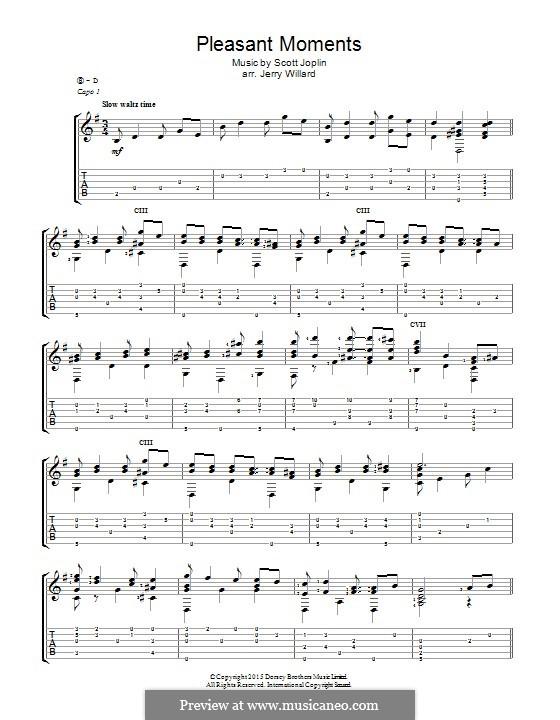 Pleasant Moments: For guitar by Scott Joplin