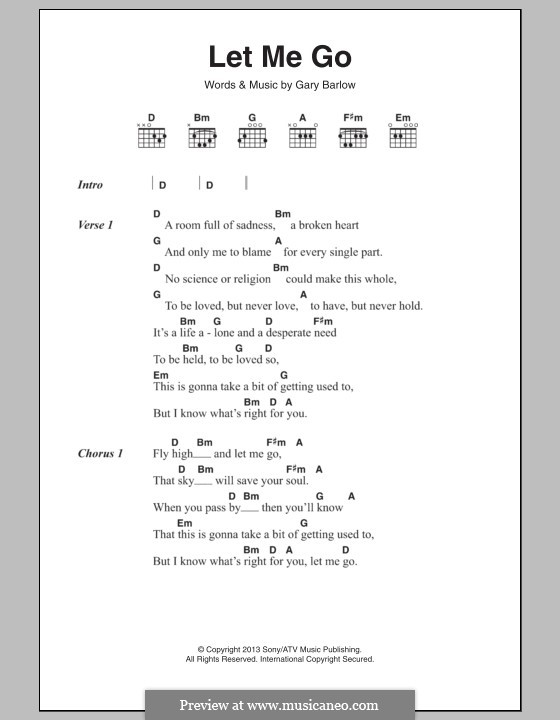 Let Me Go By G Barlow Sheet Music On Musicaneo