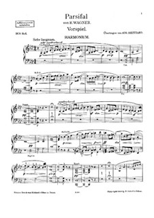 Fragments: Introduction, for harmonium and piano – harmonium part by Richard Wagner