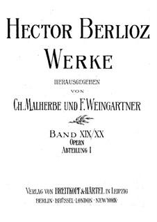 Béatrice et Bénédict (Beatrice and Benedick), Op.27: Full score by Hector Berlioz