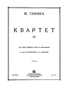 String Quartet in F Major: Parts by Mikhail Glinka