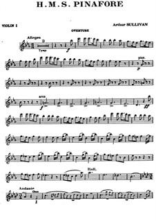 Complete Opera: Violin I part by Arthur Seymour Sullivan