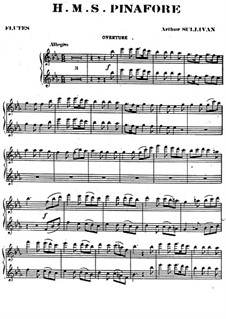 Complete Opera: Flute part by Arthur Seymour Sullivan