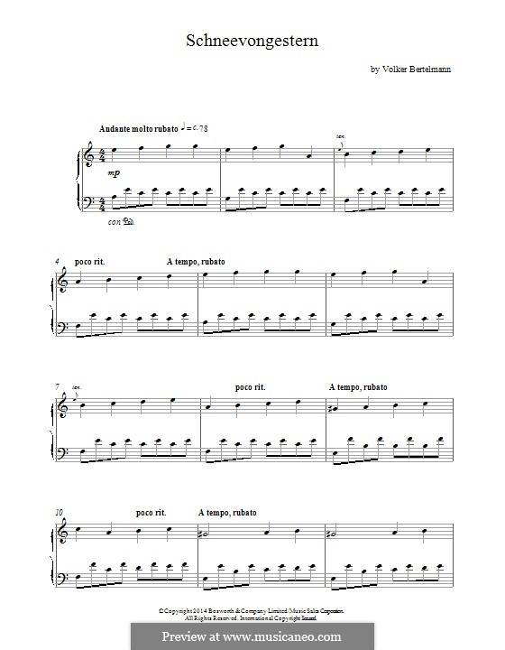 Farewell, Herr Schwarz (Theme): For piano by Volker Bertelmann