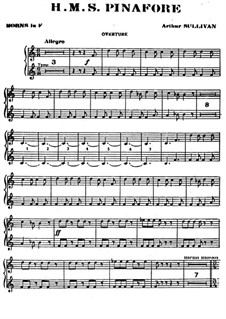 Complete Opera: French horn part by Arthur Seymour Sullivan