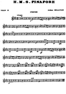 Complete Opera: Violin II part by Arthur Seymour Sullivan