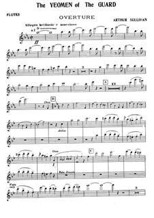 The Yeomen of the Guard: Flutes part by Arthur Seymour Sullivan