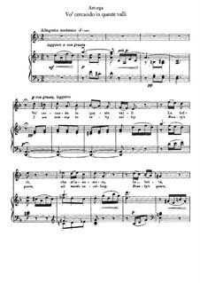 Vo' cercando in queste valli: Piano-vocal score (d minor) by Emanuele d'Astorga