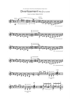 Five Divertissements for Guitar: Divertissement No.2 by Helen Walker
