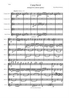 Sweet Suite: Camp David for clarinet quintet by David W Solomons