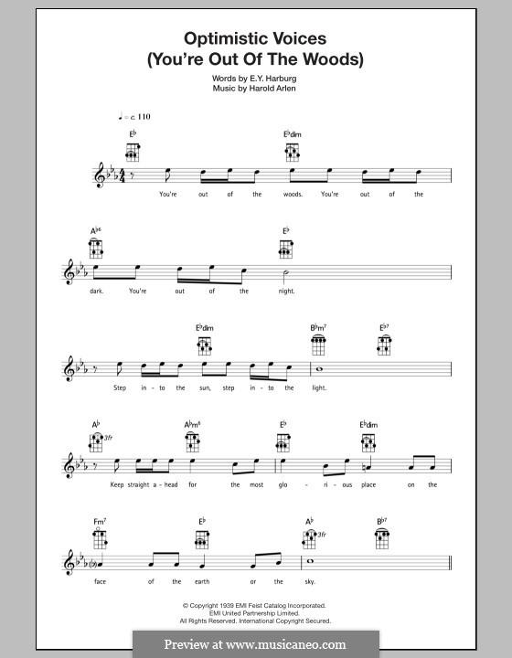 Optimistic Voices: For ukulele by Harold Arlen