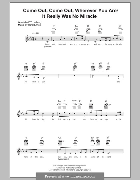 Come Out, Come Out, Wherever You Are: For ukulele by Harold Arlen