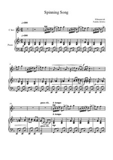 The Spinning Song: Score for two performers (in F) by Albert Ellmenreich