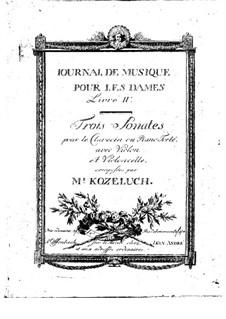 Three Sonatas for Harpsichord (or Piano), Violin and Cello, Op.20: Three Sonatas for Harpsichord (or Piano), Violin and Cello by Leopold Kozeluch