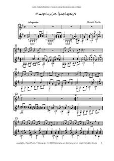 Capriccio burlesco für Blockflöte in C (oder ein anderes Melodieinstrument) und Gitarre: Capriccio burlesco für Blockflöte in C (oder ein anderes Melodieinstrument) und Gitarre by Ronald Fuchs