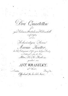 Three String Quartets, Op.4: Three String Quartets by Anton Wranitzky