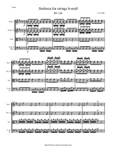 Sinfonia in B Minor, RV 168: Score and parts by Antonio Vivaldi