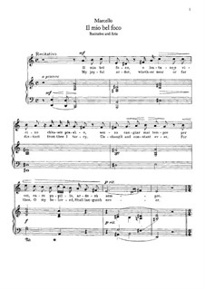 Il mio bel foco: For voice and piano (a minor) by Benedetto Marcello