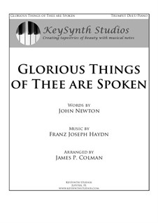 Glorious Things of Thee are Spoken: For two trumpets and piano by Joseph Haydn