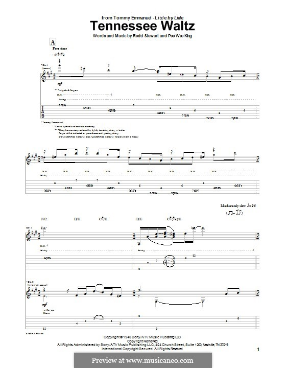 Tennessee Waltz Patty Page By Pw King R Stewart On Musicaneo