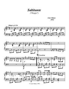 Saltitante (Hoppy): For piano by Luiz Simas