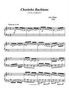 Chorinho Bachiano (For J.S. Bach): For piano by Luiz Simas