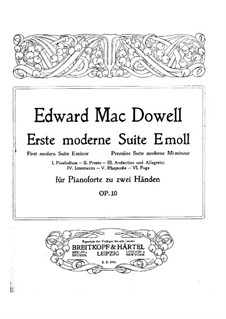 Modern Suite No.1, Op.10: For piano by Edward MacDowell