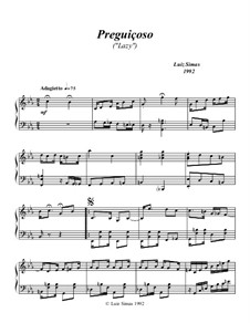 Preguiçoso (Lazy): For piano by Luiz Simas
