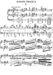 Sonata No.1 'Tragic', Op.45: For piano by Edward MacDowell