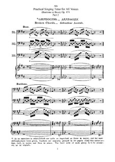 Practical Singing Tutor for All Voices, Op.474: Singing Tutor for Baritone or Bass. Movement II by Franz Wilhelm Abt