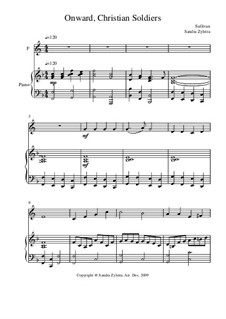 Onward, Christian Soldiers: Score for two performers (in F) by Arthur Seymour Sullivan