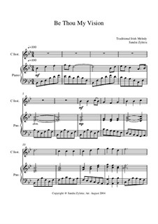 Be Thou My Vision: Score for two performers (in C) by folklore