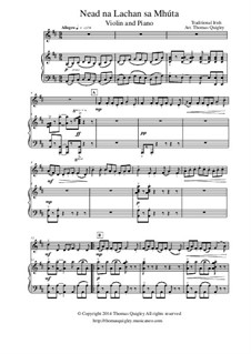 Nead na Lachan sa Mhúta: For violin and piano by folklore
