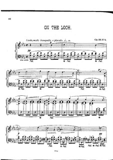 Pieces for Piano, Op.23: No.2 On the Loch by Alexander Mackenzie
