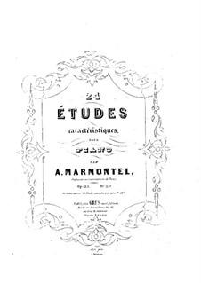 Vingt-quatre études caracteristiques, Op.25: Vingt-quatre études caracteristiques by Antoine François Marmontel