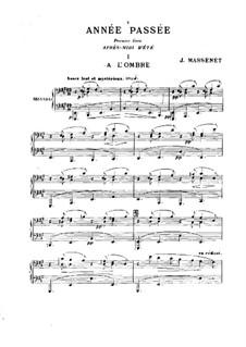 Année passée: For piano four hands by Jules Massenet