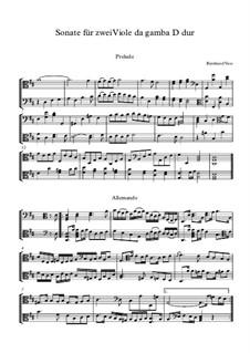 Sonate für 2 Viole da Gamba D dur: Sonate für 2 Viole da Gamba D dur by Bernhard Vass