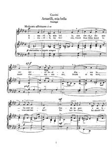 Amarilli, mia bella: F minor by Giulio Caccini