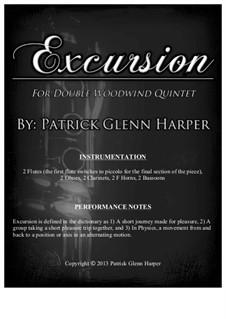 Excursion: For double wind quintet (wind decet) by Patrick Glenn Harper