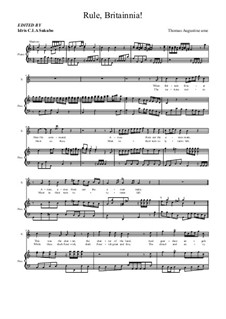 Rule Britannia: For soprano and piano by Thomas Augustine Arne