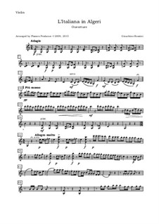 L'italiana in Algeri (The Italian Girl in Algiers): Overture, for oboe, violin, viola and cello - violin part by Gioacchino Rossini