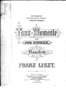 Tanz-Momente: Arrangement for piano by Johann Herbeck