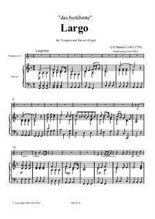 Largo: For trumpet and piano by Georg Friedrich Händel