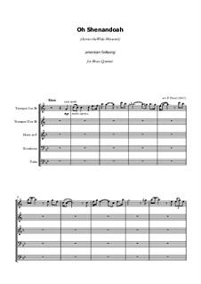 Shenandoah: For brass quintet by folklore