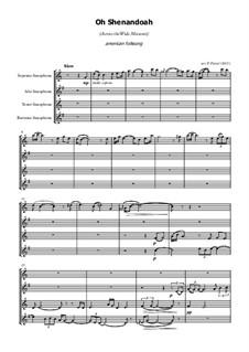Shenandoah: For saxophone quartet by folklore